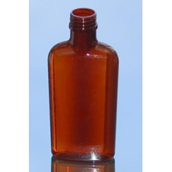 Flask 200 ML PETG AMBRE PP28